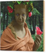 Rose Of The Garden Wood Print