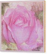 Enjoy A Rose Soft Pastel Wood Print