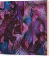 Rose Petal Wood Print