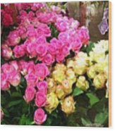 Rose Photoposter Wood Print