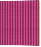 Rose Red Striped Pattern Design Wood Print