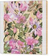 Rose Refraction Wood Print