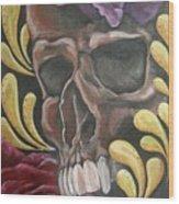 Rose Skull  Wood Print
