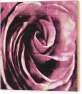 Rose Stamped Wood Print