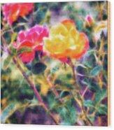 Rose Sweet Wood Print