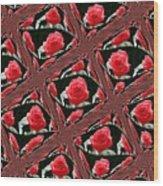 Rose Tiles Wood Print