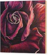 Rose Violet Wood Print