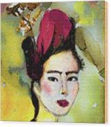 Rose Wearing Her Petals Wood Print