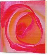 Rose Whorls Wood Print