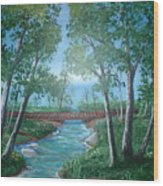 Roseanne And Dan Connor's River Bridge Wood Print