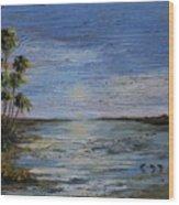 Roseate Beach Wood Print