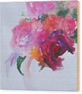 Rosebowl 1 Wood Print