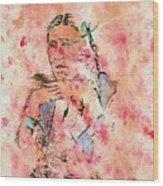 Rosebud Survivor Wood Print