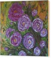 Rosebush Wood Print