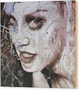 Rosegold Remixed Up Close Wood Print