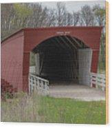 Roseman Covered Bridge - Madison County - Iowa Wood Print
