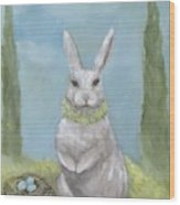 Rosemary Rabbit Wood Print