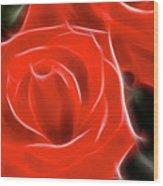 Roses-5814-fractal Wood Print