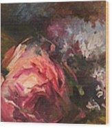 Roses And Lilacs Wood Print