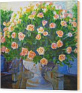 Roses At Table Bay Wood Print