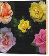 Roses Beautiful Wood Print