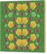 Roses Dancing On A Tulip Field Of Festive Colors Wood Print