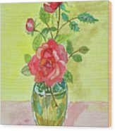 Roses For Dorothy Wood Print