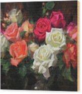 Roses For Kim Wood Print