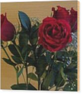 Roses For Valentines Day Wood Print