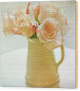 Roses In A Vase Still Life Wood Print