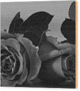 Roses In Bed Wood Print