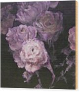 Roses In Mauve Wood Print