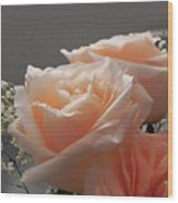 Roses Light Wood Print