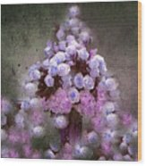 Roses Lilac And Shabby Pink Wood Print
