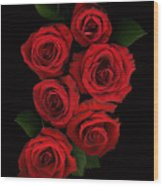 Roses Of Love Wood Print