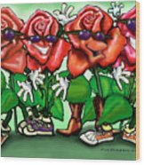 Roses Party Wood Print