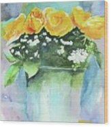 Roses Row Wood Print