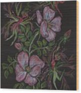 Roses Run Amok Wood Print by Dawn Fairies