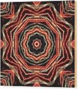 Rosette Fireburst Wood Print