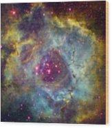 Rosette Nebula Ngc 2244 In Monoceros Wood Print