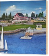 Rosewood Cottages Nova Scotia Wood Print