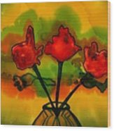 Rosey Afternoon Wood Print