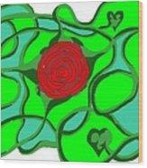 Roseybud Wood Print