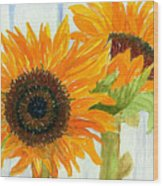 Rosezella's Sunflowers Wood Print