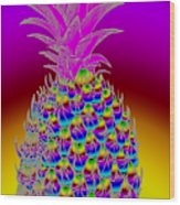 Rosh Hashanah Pineapple Wood Print