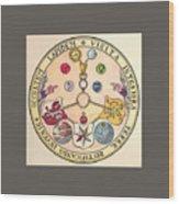 Rosicrucian Rose Wood Print