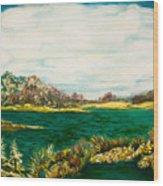 Roslyn Harbor Wood Print