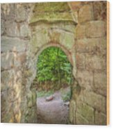 Rosslyn Castle Forest Entry Wood Print