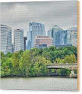 Rosslyn Distric Arlington Skyline Across River From Washington D Wood Print