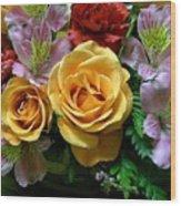 Rosy Bouquet Wood Print
